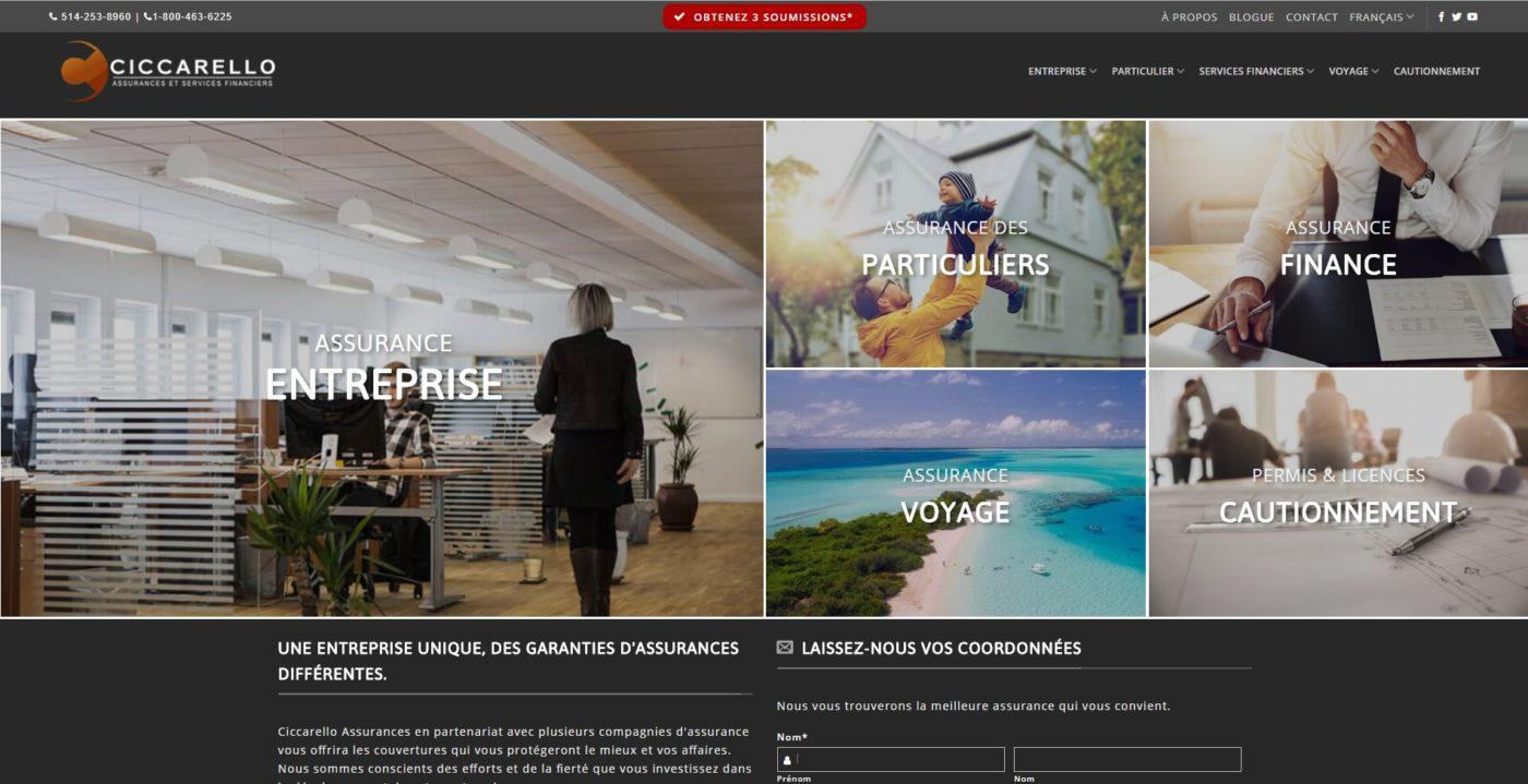Positionnement SEO, création de site web pour un courtier d'assurance